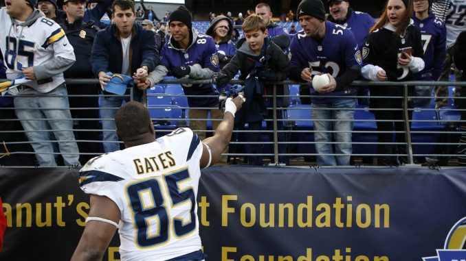 Colts, Chargers, Antonio Gates